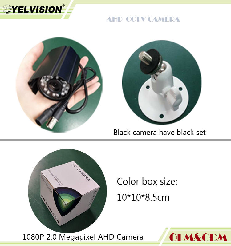 promotion <strong>1080P</strong> 2MP Market hotest metal smallest color box mini blullet very mini size bullet AHD Camera