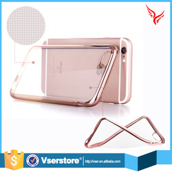 High quality accessories for iPhone 6 6s soft electroplating tpu cell phone cases