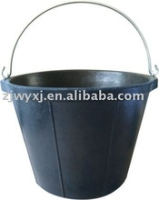 cement buckets,strong construction rubber pail,recycled rubber buckets&barrels