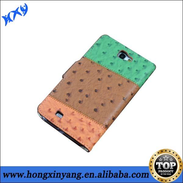 Hot selling leather flip case for samsung galaxy Note 2,wholesale phone leather case for note 2.