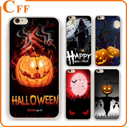 Halloween Party Accessories Pumpkin Ghost Trick or Treat Plastic Skin Phone Case Cover For iphone 4 4s 5 5c 5s 6 6s 7 plus Hard