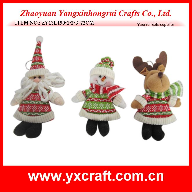 Christmas decoration (ZY13L190-1-2-3 22CM) christmas knitted stuffed decoration with pp cotton