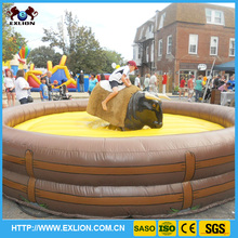 Large fairground rides inflatable rodeo bull machine games for kids rides
