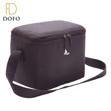 OEM custom high quality long strap zipper lock large polyester lunch cooler bag for food