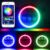 "Bluetooth controller 7"" rgb led headlight 4inch magic led fog light for Jeep"