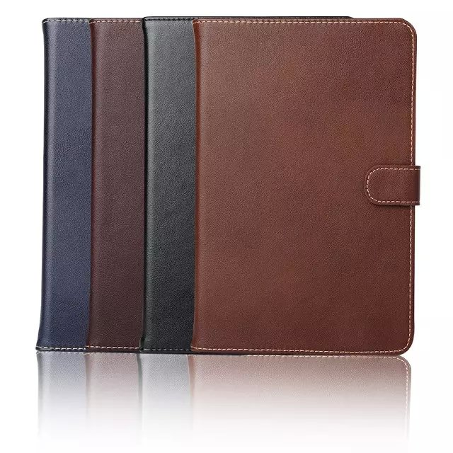 Genuine Leather Wallet Cover for iPad mini 4 , For ipad mini 4 Stand Case With Card Slots