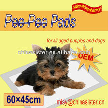 Attractant 60*45cm 50pack Absorbent Dog Waste Pad