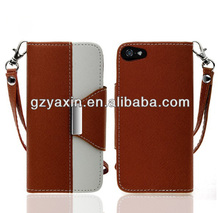 Top on sale cell phone cover for iphone 5 flip leather cases cover