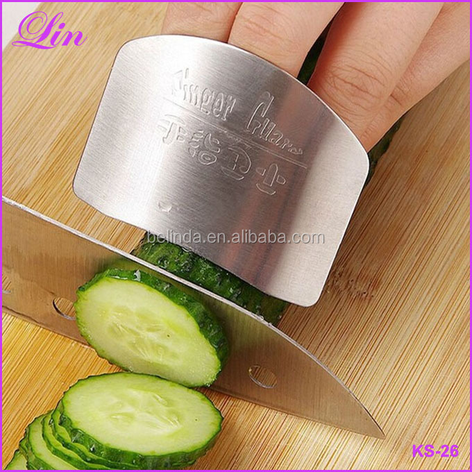 Kitchen Cooking Tools Steel Finger Hand Protector Guard Personalized Design Chop Safe Slice Knife