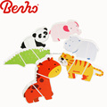 Kids high quality decorative magnetic wooden animal puzzle solutions