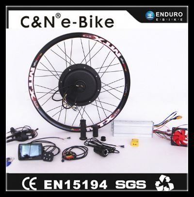 75km/h 60v/72v/84v 3000w ebike rear hub motor conversion kit for electric bicycle /motorcycle