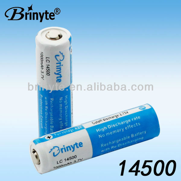 14500 3.7v Rechargeable Lithium AA Dry Battery