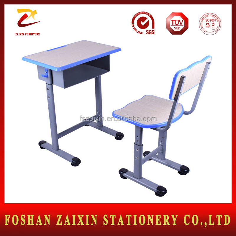 Modern ergonomic kids study table and desk High school furniture Classroom desk and chair set