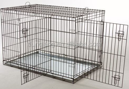 Powder coated iron wire folding dog kennel cage
