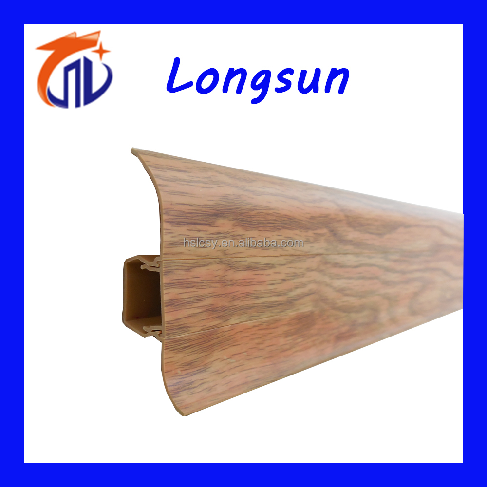 Wood plastic composite decking skirting board