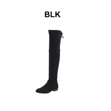 2017 NEW DESIGN winter women thigh high leather long boot flat heel boot hot selling over knee boots shoes