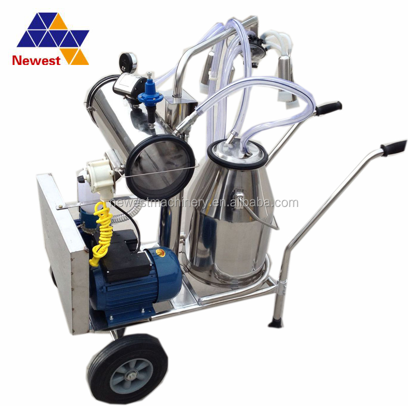 Automatic single bucket cow portable milking machine/cow milker