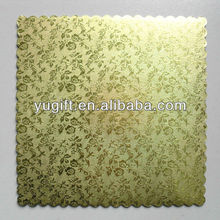 Golden foil Cake Board with Flower Pattern