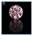Charming round shaped pink cubic zircon stone