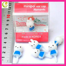 Christmas Gift! Cute Rabbit 3.5mm Anti Dust silicone dust proof Earphone Jack plug for iPhone5 5c 5s /samsung/table pc