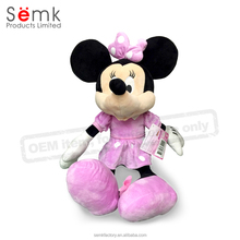 Minnie mouse plush toy China audited factory top quality cartoon plush doll for kids