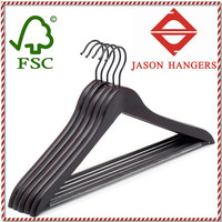 F6609 Cheap bulk wood clothes hangers wholesale