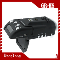 Factory Direct GPS car black box with Radar detector function GR-H8 car dvr