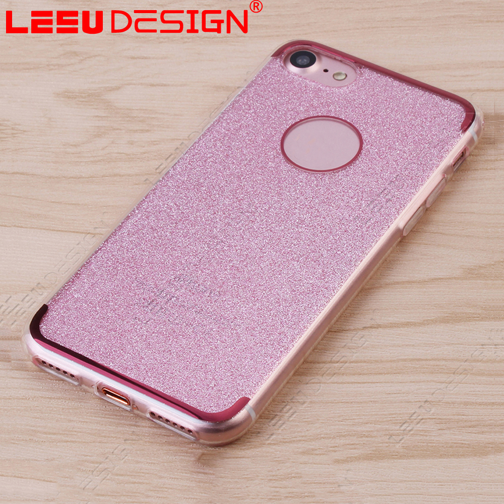 New style fashion crystal bling bling silicone phone case for iphone 7 plus
