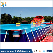 PVC plastic blue color above ground portable inflatable swimming pools inflatable water Bracket Pool