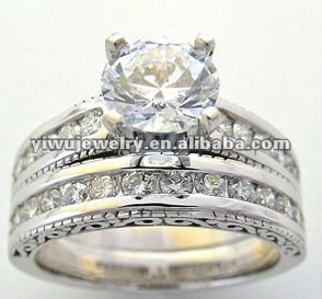 Fashion Cuc Zirconfium Diamond Wedding Ring Women Luxury Fashion Jewelry
