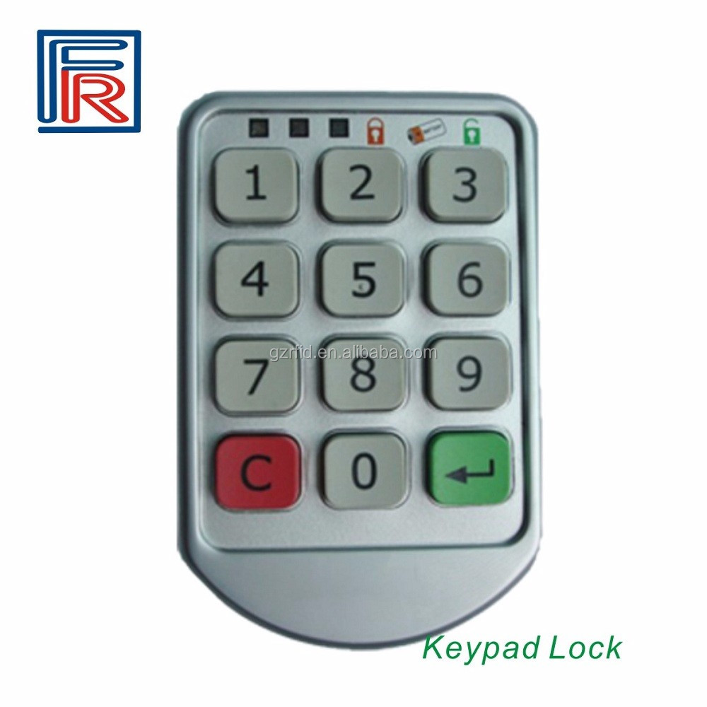 Electronic Keypad Cabinet Lock Silver Metal Digital Intelligent ...