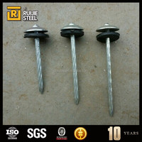15cm iron nail/Galvanized umbrella head roofing Nails high quality products