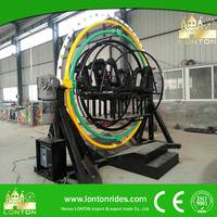 Latest Business Opportunity Human Gyroscope Backyard Amusement Ride