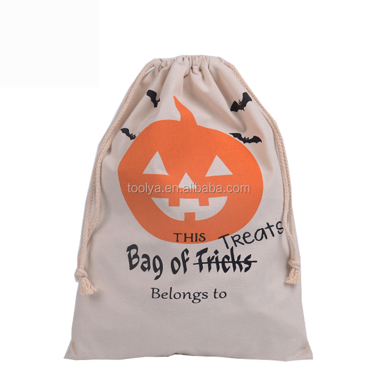 Hallowmas Gift Bag Canvas Material PumpkinCotton Bags For Child Gifts Packing