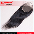 Vipsister Hair mink hair straight 4*4 lace closure,silk closure
