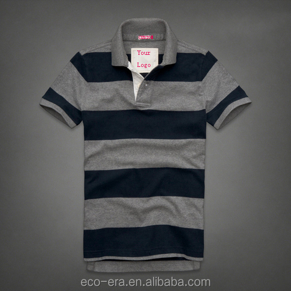 China Wholesale Custom Striped Polo Shirt Mens Polo Shirts Embroidery Design