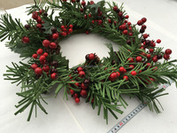 Decorative Artificial red berries Fall wreath