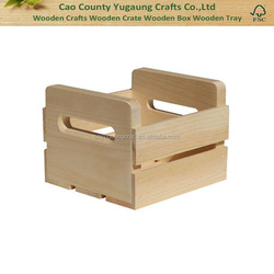 Small Wooden Wine Crate Carrier