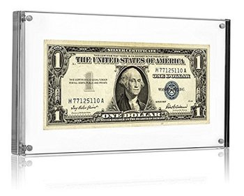 Acrylic magnetic currency display frame acrylic picture frame