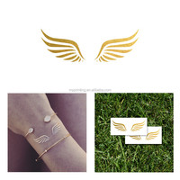OEM tattoos metallic gold foil temporary customised tattoo fake