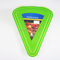 best seller colorful plastic food container, triangle shape pizza box
