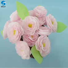 Clay crystal description mini paper craft rose flower