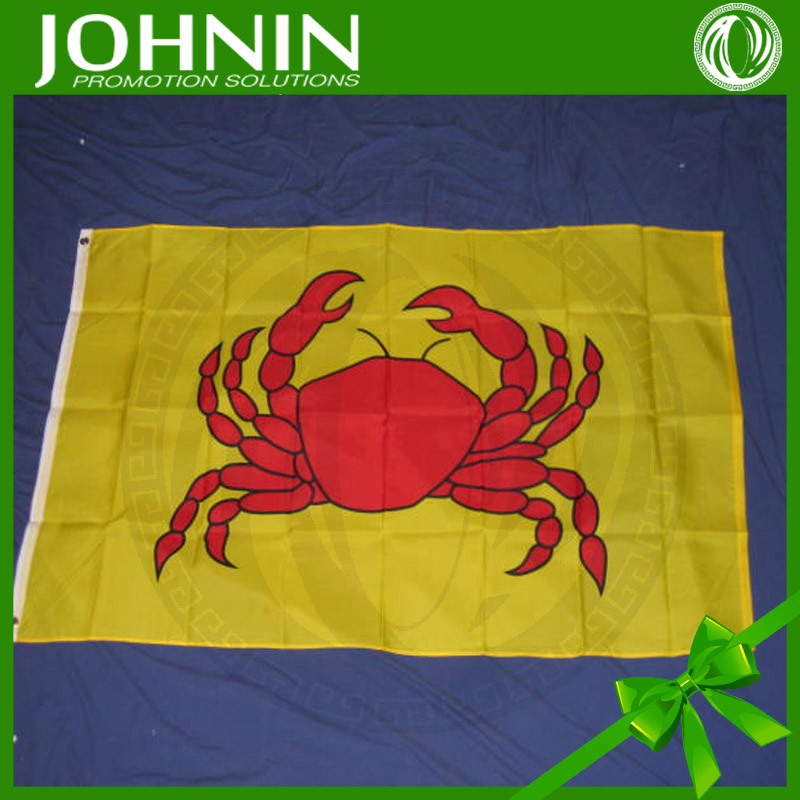 customized polyester advertising sea cheap fish boat flag
