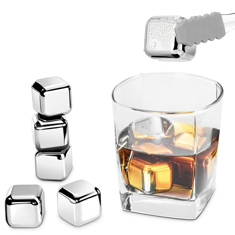 Food grade Fast cooling stainless steel ice cube for Whisky wine beer