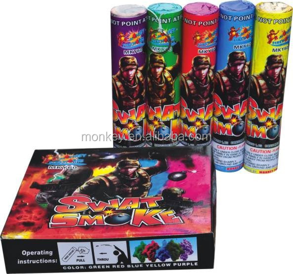 novelty toys fireworks 60 seconds color thunder Smoke tube Fountain for children for sale Fireworks[MKY60]