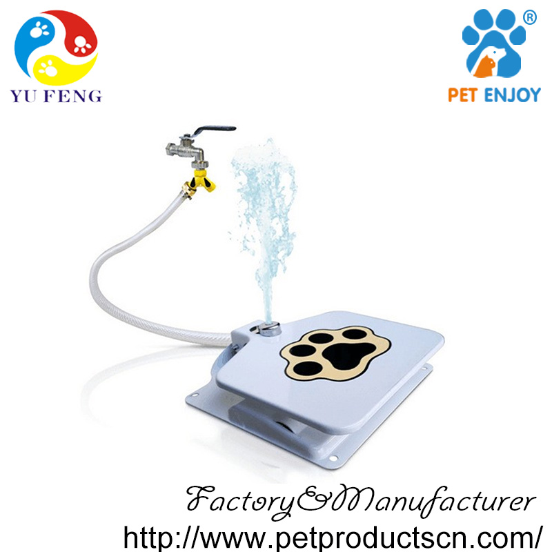 China factory price automatic pet feeder for hot summer,step on pedal water fountains outdoor
