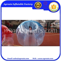 1.0 100% PVC half bluehalf transparent Bumper Ball GB7054