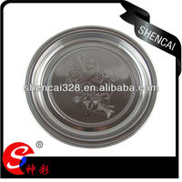 36cm - 52cm Stainless Steel Flower Pattern Large Round Serving Tray / plate