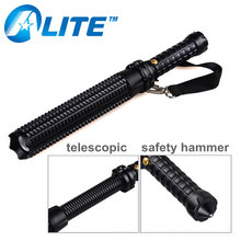 Aluminum Telescopic Baton 3W 3000LM Security Police LED Flashlight