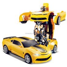 2017 Hot Sale Camaro 2.4Ghz RC Car Transform Robot Toy